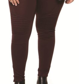 DEX Dex Plus Biker Legging W/Pleated Details