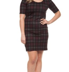 DEX Dex Plus Scoop Neck Dress
