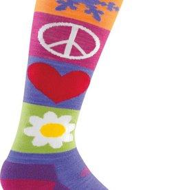 Darn Tuff Darn Tough Peace/Love/Snow Light Junior Sock