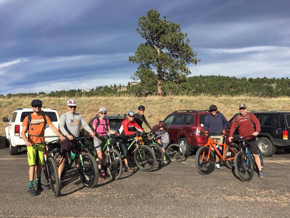 The First Evergreen Mountain Sports Group Ride!