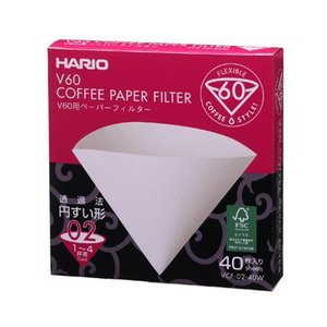 Hario V60 Filters 01 Natural 40 ct.