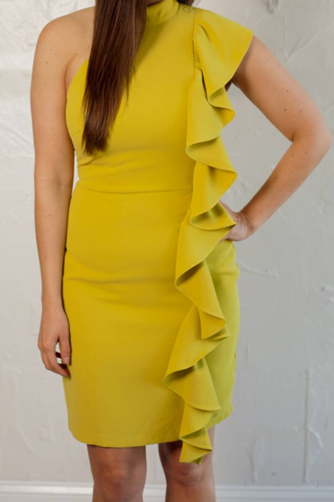 Adelyn Rae CHARTREUSE DRESS