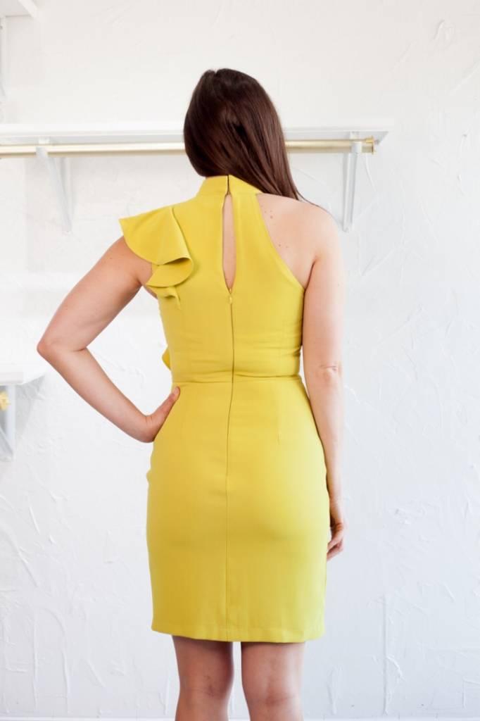 Adelyn Rae CHARTREUSE DRESS