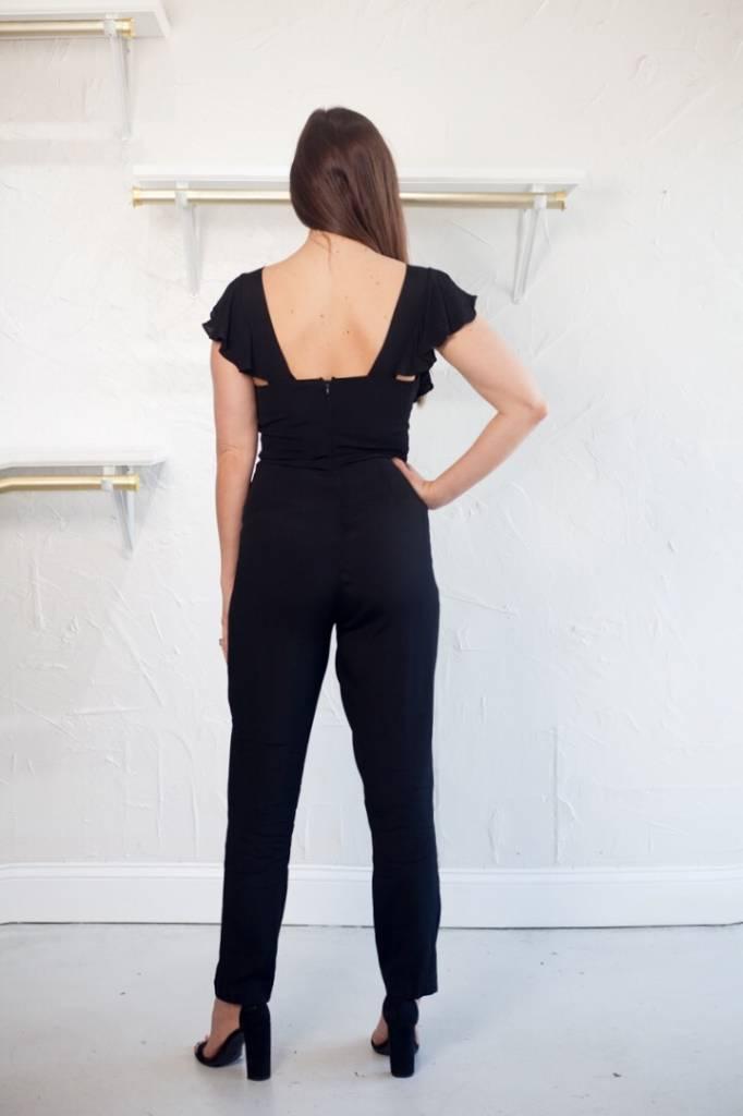 Ruffle Sleeve Jumpsuit