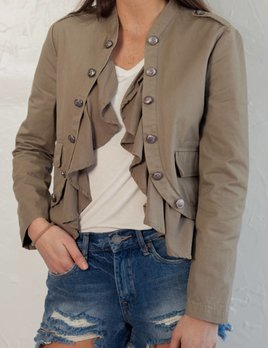 HEDY SANDY BEIGE MILITARY JACKET