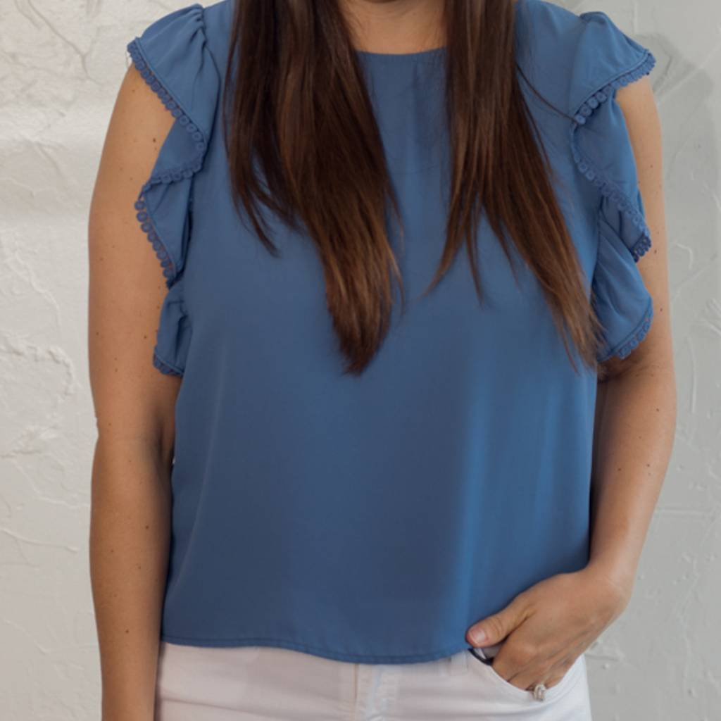 MARIE BIJOE BLUE TOP