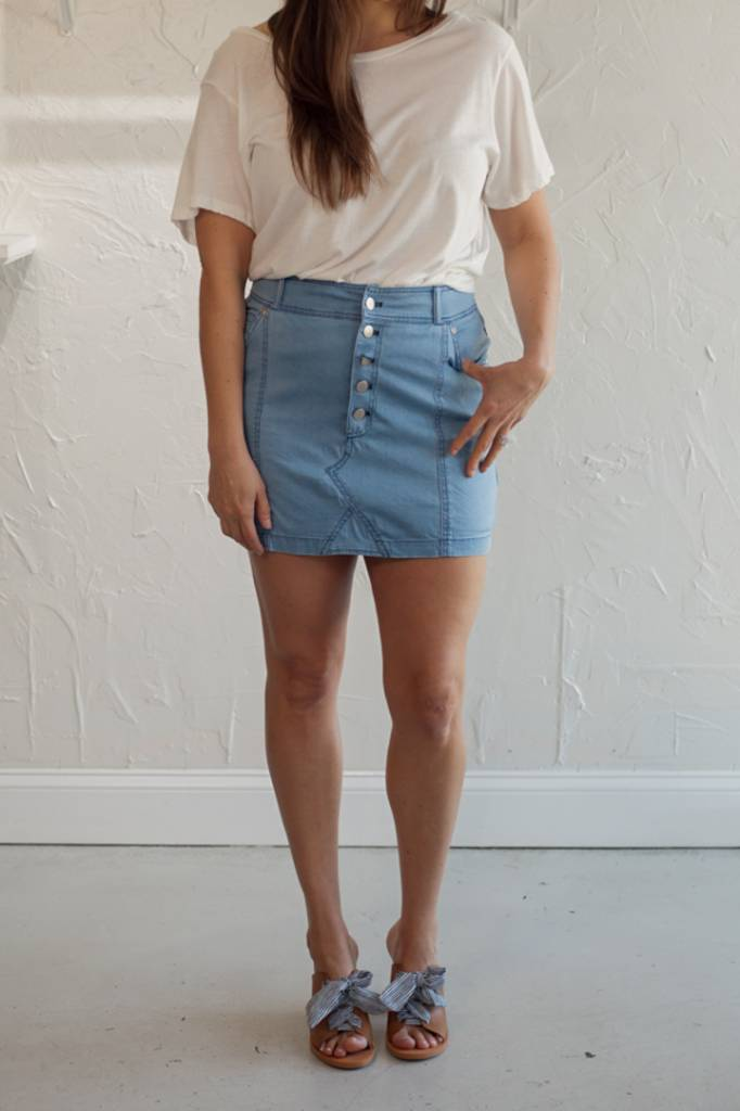 KESHA CHAMBRAY SKIRT