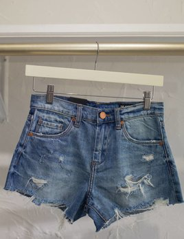 HIGH RISE BARROW DENIM SHORT