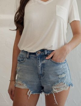 NOVA HIGH RISE DENIM SHORT