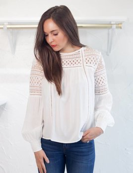 NEWMAN LACE YOKE TOP