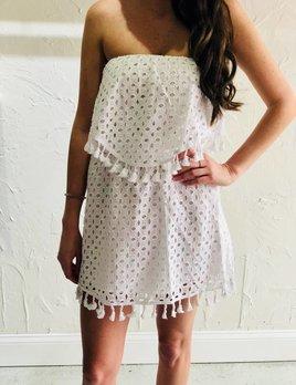 LEIGHTON EYELET DRESS