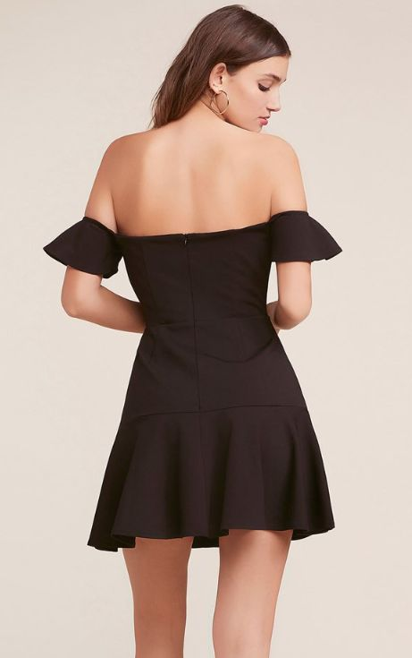 FREAKUM BLACK FLARE DRESS