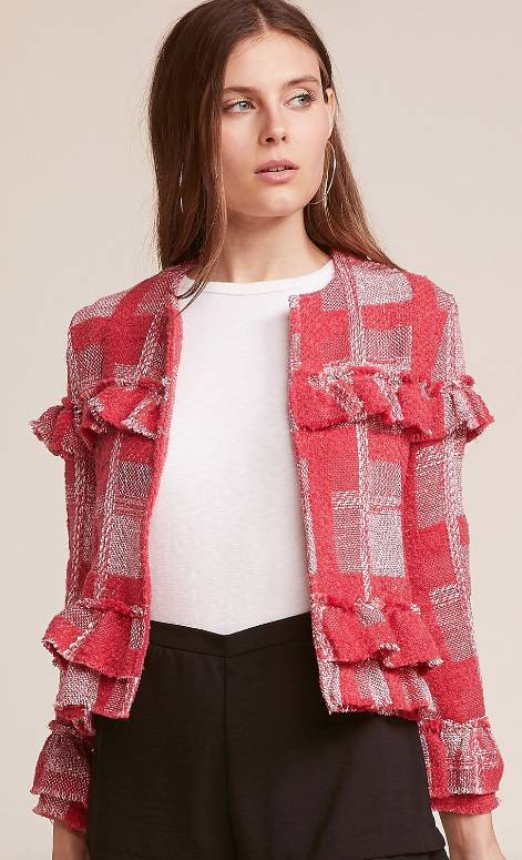 SPARKS FLY RUBY PLAID JACKET