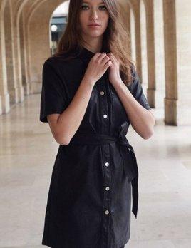 ANNAE LEATHER DRESS