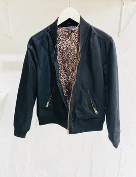 LIZZY LEOPARD BOMBER