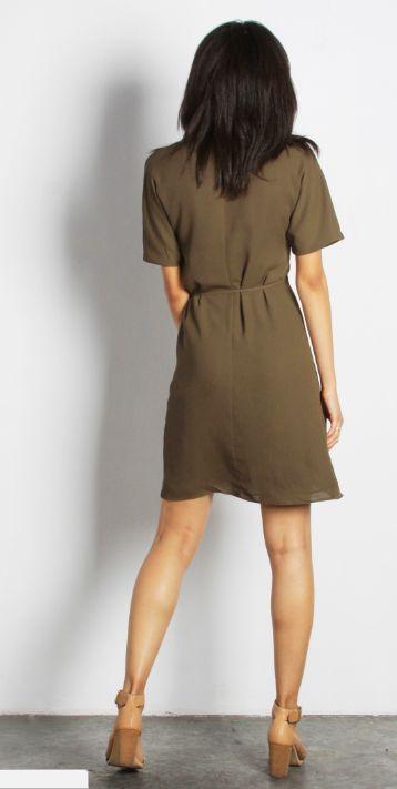 OLIVE PORT DRESS