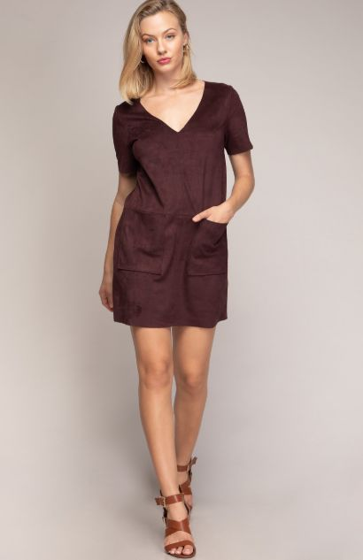 MICRO SUEDE DRESS