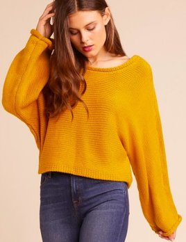 CROPPED SWEATER WITH DROP SLEEVE