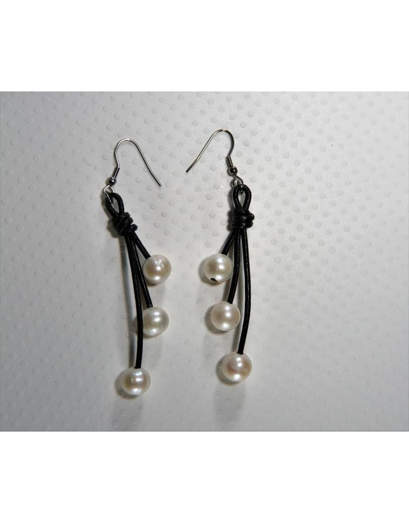 Sb Jewelry Designs Earrings Pearls Leather