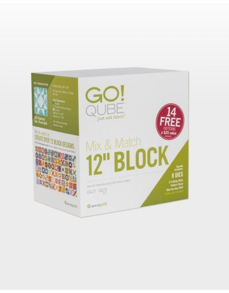"""Accuquilt Go! Qube Mix & Match 12"""" Block"""