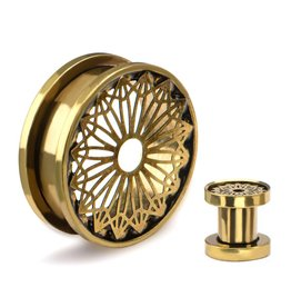 Brass Circle Plug (10/16)