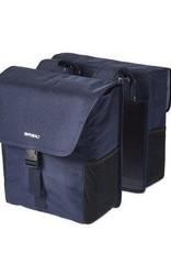 Basil Go Double Pannier Bag Denim Blue