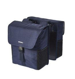 Basil Go Double Pannier Bag Denim Blue