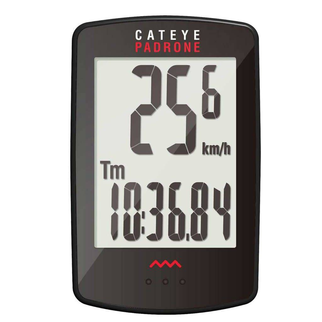CatEye Padrone Computer with Stopwatch Black