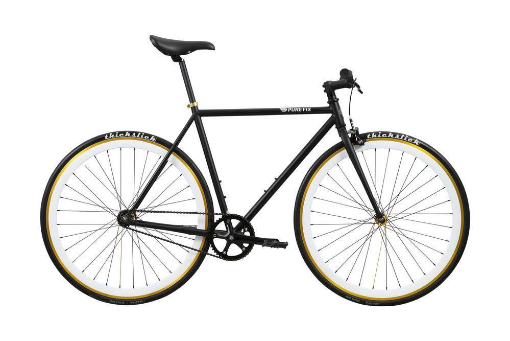 Pure Cycles Pure Fix Mike 54cm Black w/ White