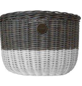 Linus Bikes Basket Front Rattan Oval Grey/White