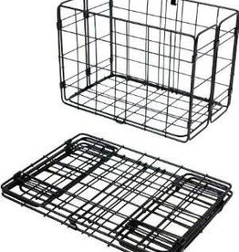 Wald Basket Rear Folding 582 Black