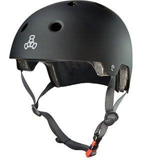 Triple 8 Helmet Brainsaver Black Rubber XS/S