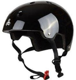 Triple 8 Helmet Brainsaver Gloss Black S/M