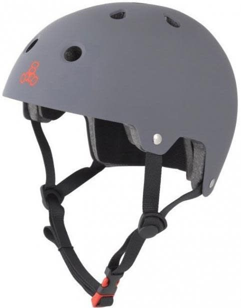 Triple 8 Helmet Brainsaver Gray Rubber S/M