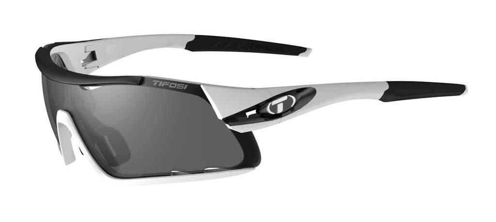 Tifosi Sunglasses Davos White Black/Smoke, Red, Clear