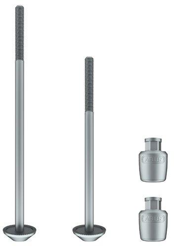 ABUS Wheel Lock Nutfix Skewers 100/135mm Silver pair