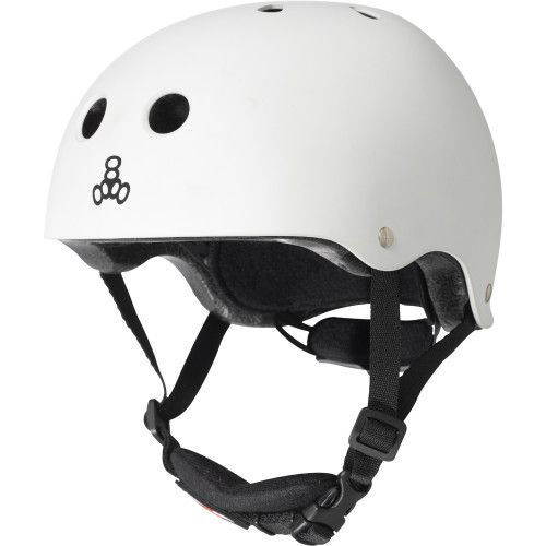 Triple 8 Helmet Lil 8 Gloss White