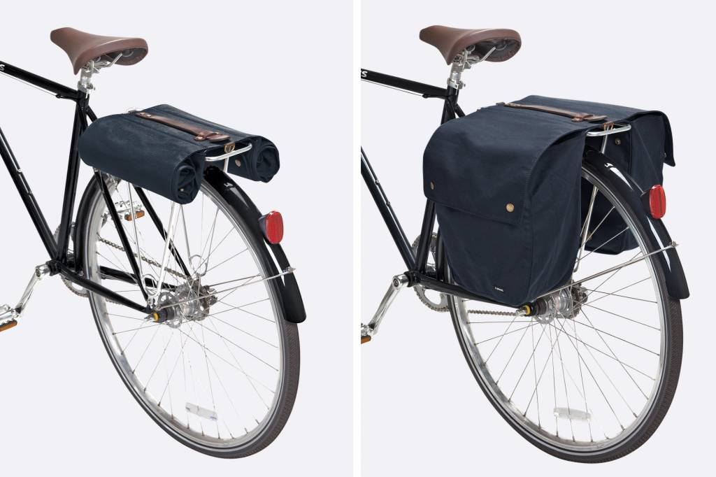 Linus Bikes Panniers Market Bag Double Navy (pair)