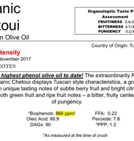 The Anointed Olive Northern Hemisphere Olive Oil Organic Chetoui -Tunisia