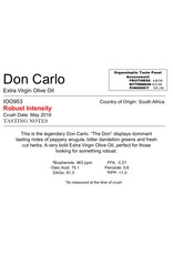 The Anointed Olive Southern Hemisphere Olive Oil Don Carlo-South Africa