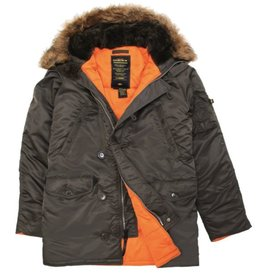 ALPHA INDUSTRIES ALPHA INDUSTRIES MEN'S SLIM FIT PARKA N-3B MJN31210C1