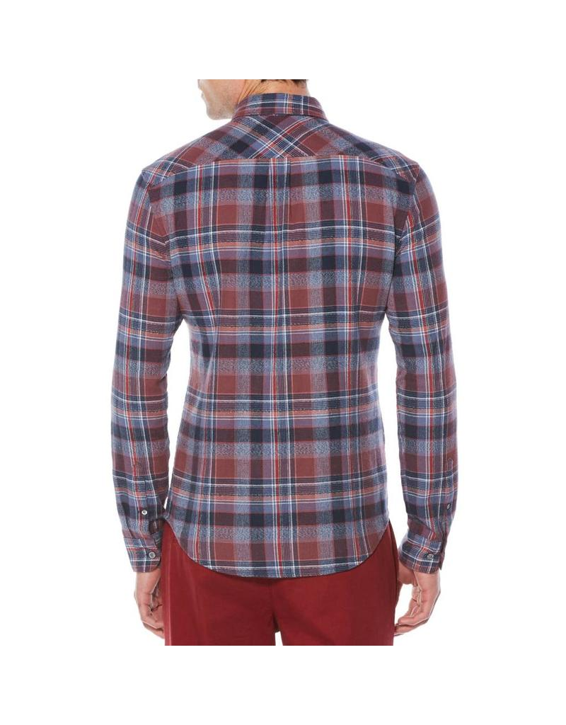 PENGUIN PENGUIN HOMMES TWISTED YARN FLANNEL SHIRT OPWF7062