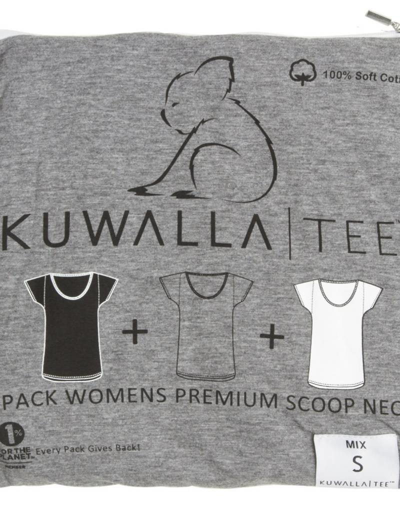 KUWALLA KUWALLA WOMEN'S 3 PACK SS T-SHIRT KUL-WCM42