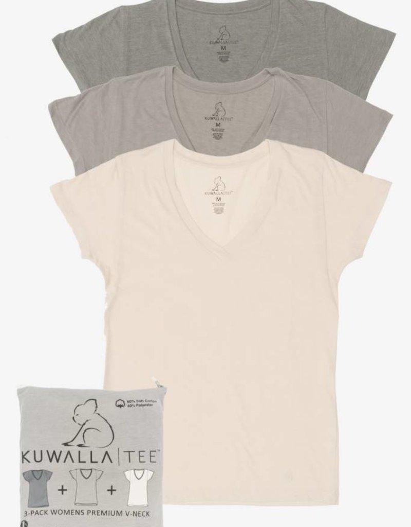 KUWALLA KUWALLA WOMEN'S 3 PACK SS T-SHIRT KUL-WEV1603