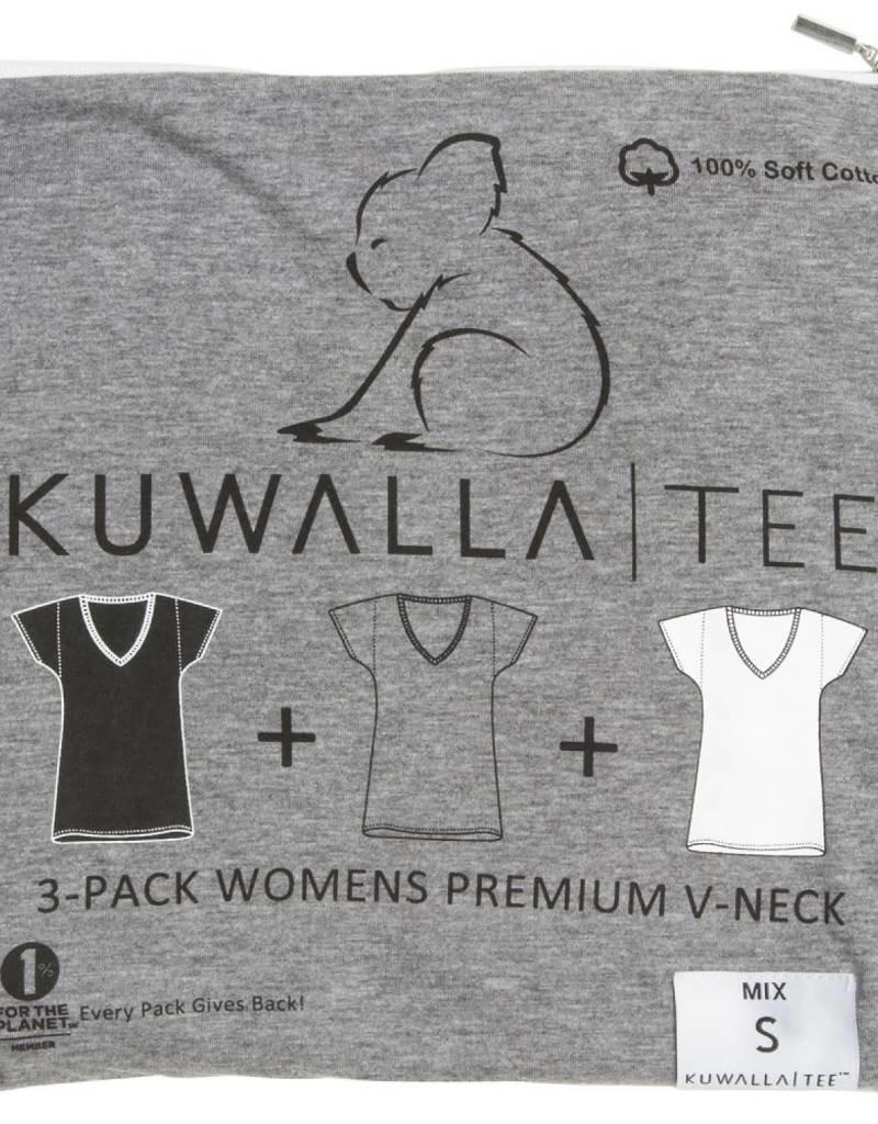 KUWALLA KUWALLA WOMEN'S 3 PACK SS T-SHIRT KUL-WVM44