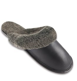 MEN'S SHEEPSKIN SLIPPERS OPEN BACK 202U