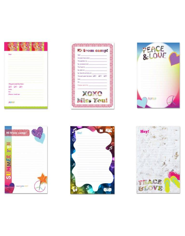 CAMP NOTES ASSORTED GIRLS