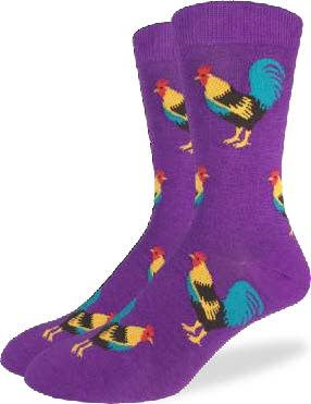GOOD LUCK GOOD LUCK SOCK ROOSTERS PURPLE 7-12 1261