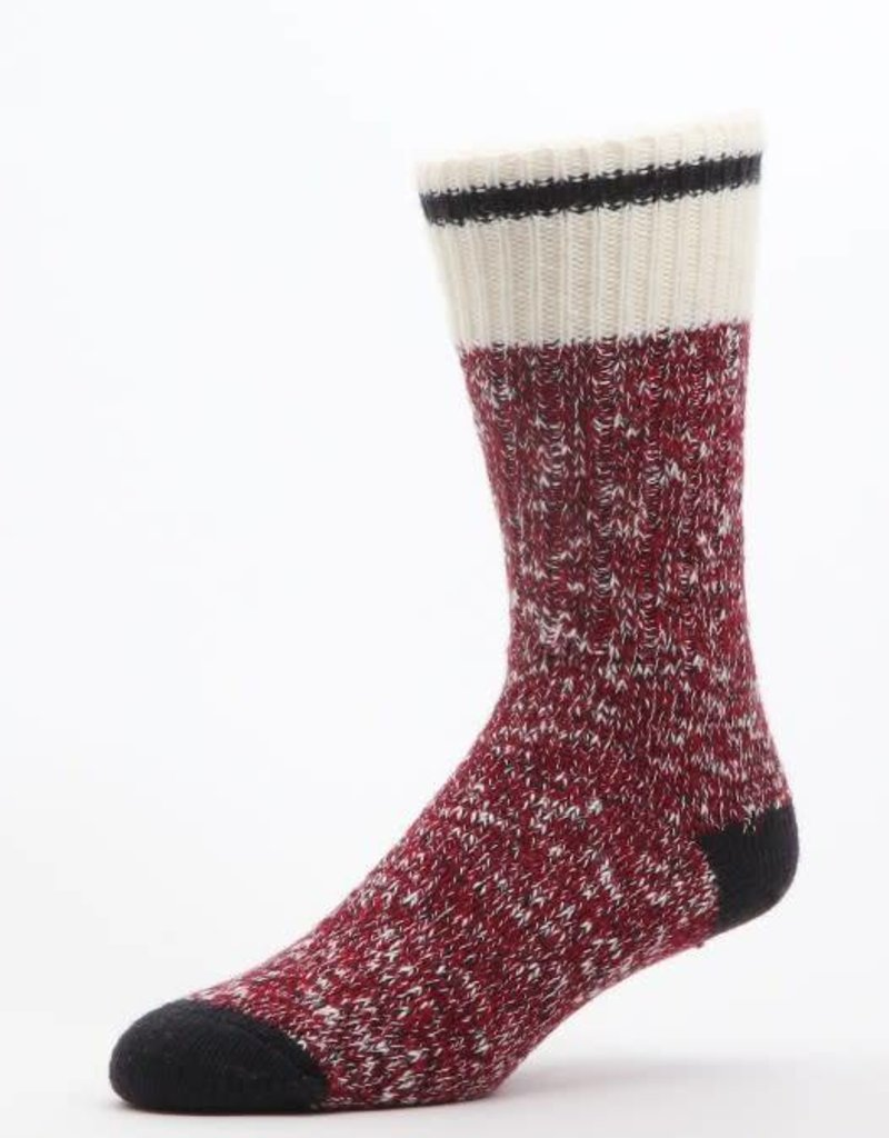 DURAY DURAY WOMEN'S SOCK 429 RED MARLED SIZE MEDIUM 182