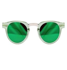 SPITFIRE SPITFIRE SHARPER EDGE CLEAR/GREEN MIRROR SUNGLASSES